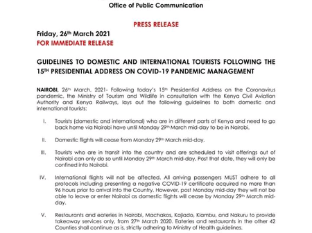 Internet Erupts After This Press Release By A Government Ministry Following Uhuru's Covid 19 Measure