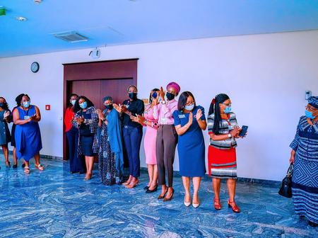 Reactions As The Pictures Of Women Working At VP Osibanjo Office Was Spotted Online