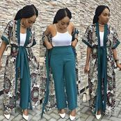 Latest 28 Fitted Kimono Top And Palazzo Pants To Rock Your Weekend