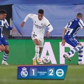 PLAYER RATINGS: See How Hazard, Modric, Isco and Others Performed As Madrid Lost To Alaves