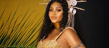 The New Pictures Regina Daniels Posted is half naked; She should not be posting such again