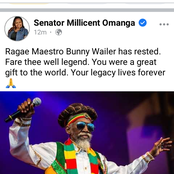 Millicent Omanga's Tribute To The Late Reggae Legend Bunny Weiler