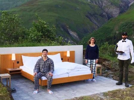 Check out The Hotel that has no roof or walls yet see how much people pay to sleep in it