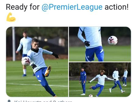 Photo: Chelsea ready for Southampton as Pulisic, James, Mount and Havertz train ahead weekend Clash.