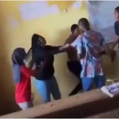 Gist: Lady Dragged Her Lecturer By His Shirt And Hit Him Hard For Issuing Her A Malpractice Form