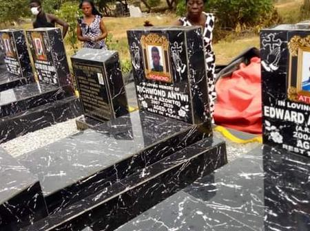 [Photos] See How The Tombs Of The 8 Young Footballers Who Died Through Accident Looks Like