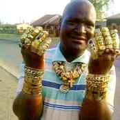 The Man Who Wears A Lot Of Gold Rings - See Pictures.