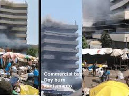 Breaking: GCB, Kantamanto branch on fire
