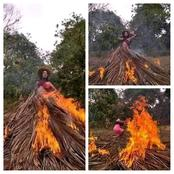 A photoshoot turns into a fire disaster