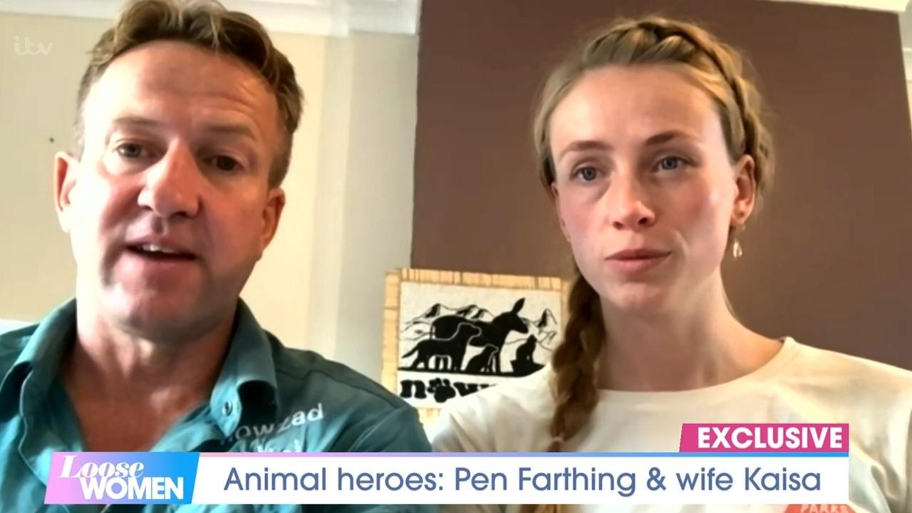 Pen Farthing and rarely seen wife appear on Loose Women ahead of dog reunion