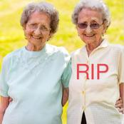 One half of Britain's oldest identical twins has been confirmed dead after a brief illness.