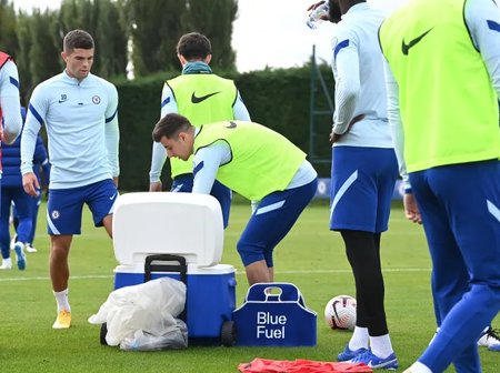 Pictures: Chelsea star finally returns to training ahead of the Crystal Palace game
