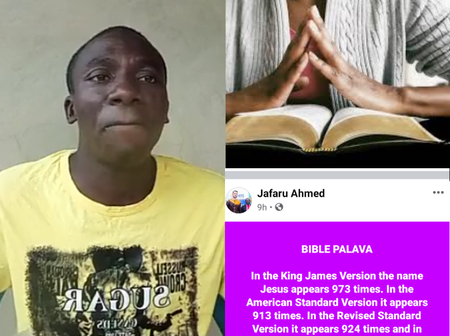 A Muslim Man Reveals The Number of Times The Name of Jesus Appears in 5 Different Versions of Bibles