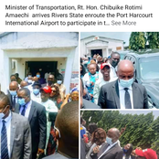 Minister Of Transportation, Rotimi Amaechi Storms Rivers State (See Photos)