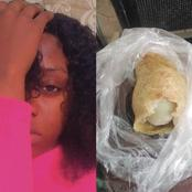 See What This Lady Found Inside A Meat Pie That Was Sold To Her In Onitsha Today (Photos)