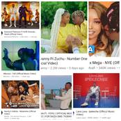 Check out all the East African trending music Videos on YouTube