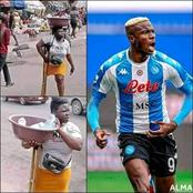 Super Eagles Star that Sold Pure Water Before Gifts Money to a Pure Water Hawker