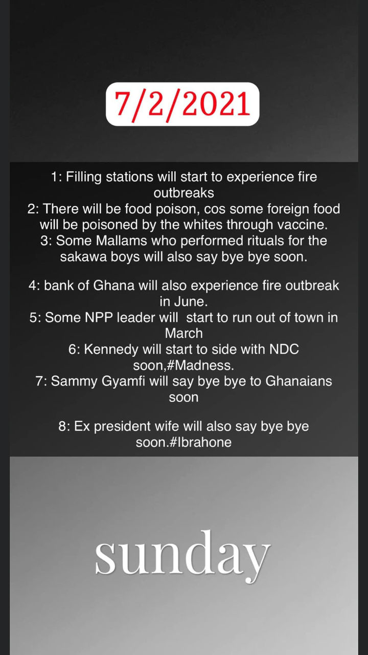 3161a1945bdc4971bb0cdb7b2b04ccb9?quality=uhq&resize=720 - An Ex President's Wife And Sammy Gyamfi Will 'Die' Soon; Bank Of Ghana Will Catch Fire - Ibrah One