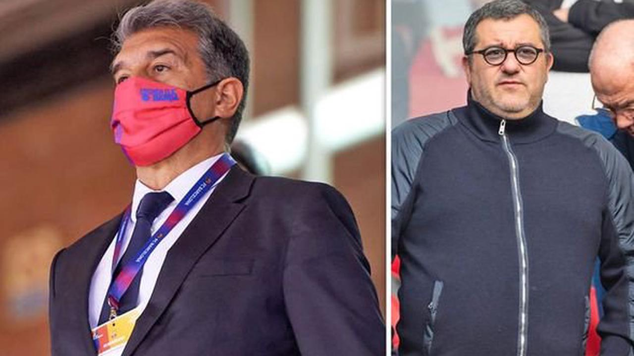 Barcelona chief Joan Laporta 'talks with Mino Raiola about signing three clients'