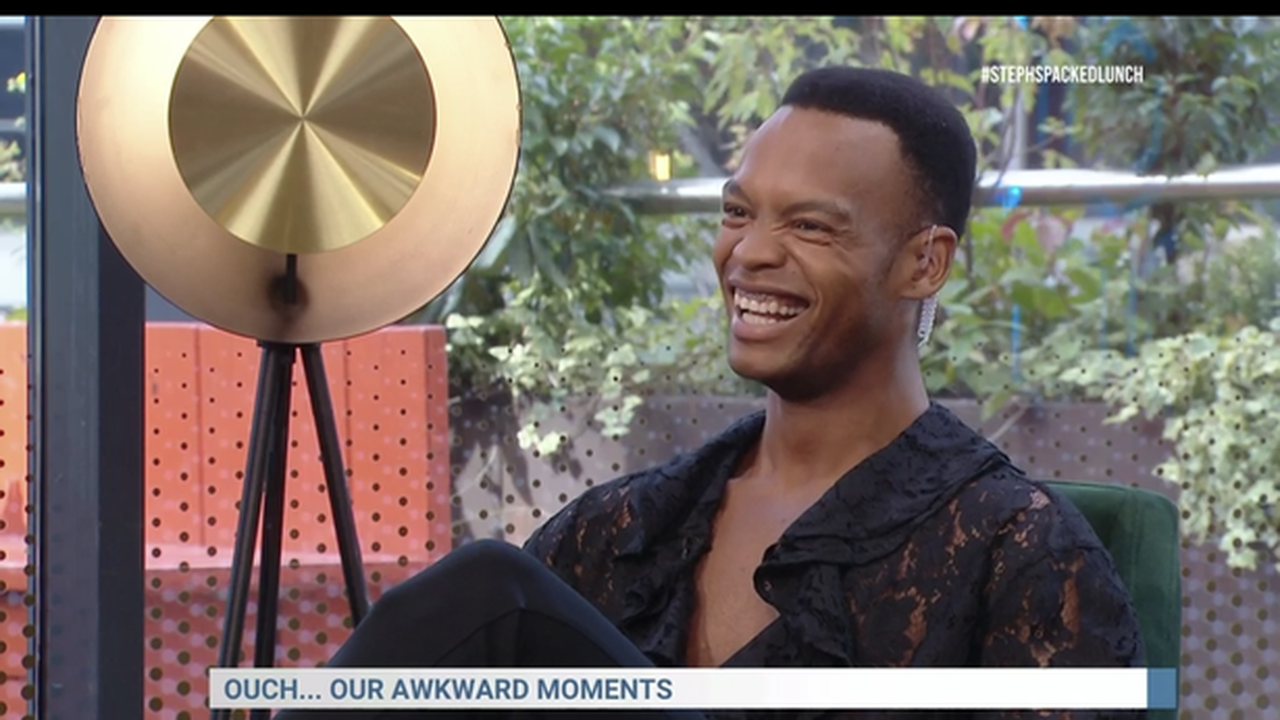 Strictly's Johannes Radebe reveals awkward wardrobe malfunction on Steph's Packed Lunch