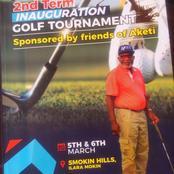 AKETI 2nd Term Inauguration Golf Tournament.