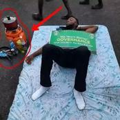 EndSars: Check Out 6 Photos of Weird Things Protesters Did During the Protest.