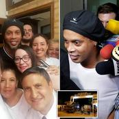 Months After Being Released From Prison, Check Out Recent Photos Of Ronaldinho And Family.