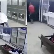 A newly hired mortuary man gets the fright of his life as 'corpse' wakes up on his first day at work