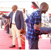 Kakamega boy hands a chicken to DP who reminisces days he used to sell the birds