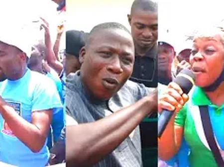 Sunday Igboho's Boys Block Major Road In Ibadan As They Campaign For Yoruba Nation (Video)