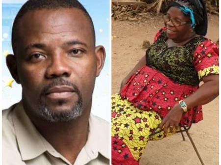 Okey Bakassi Shows Off His Beautiful Mother Who Was Pregnant With Him During Civil War (Photos)