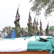 Twelve Nigerian Soldiers Who Were Killed By Bandits Has Finally Been Buried