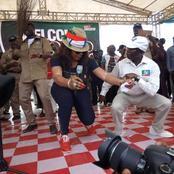 See Photos Of Adams Oshiomole Displaying His Dancing Skills