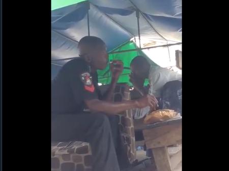 Videos Of Armed Policemen Taking Marijuana [Weed] Spark Reactions On Social Media