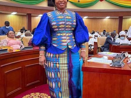 Honourable Adwoa Sarfo Back from United Kingdom shortly after giving birth.