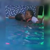 """Wonders Shall Never End"" See What These Two Adults Were Caught Doing In The Swimming Pool (Video)"