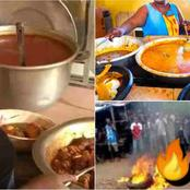 A woman uses water from dead bodies to cook for customers burnt alive.
