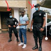 Peter Okoye Show Off 2 Security Men That Guard His Multi-Million Mansion He Acquired (Photos)