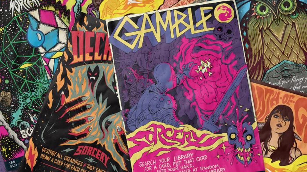First Look: 'Magic: The Gathering''s psychedelic, concert poster-inspired Secret Lair drop