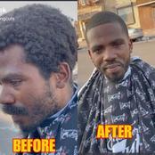 Meet A Homeless Man Who Was Given A Haircut By A Good Samaritan