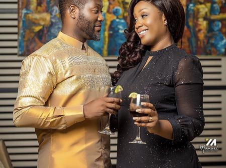 Check out the loved up photos of Adjetey Anang and his wife that will warm your heart