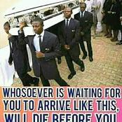 A Prayer For You, Whoever Expects You To Arrive In A Coffin, Let That Be Their Portion