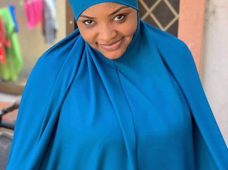 Actress Aisha Tsamiya shares new photo wearing a hijab