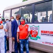 Heartland Football Club Gets Two New Coaster Buses From Imo State Governor