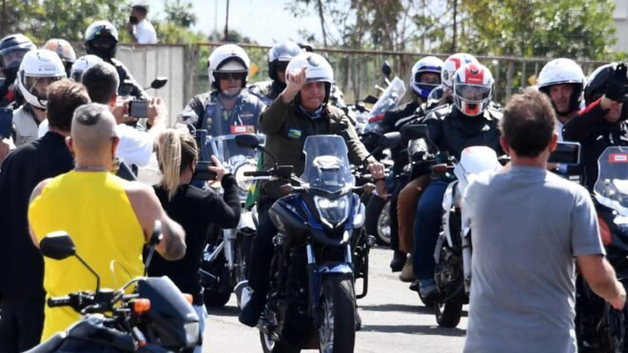 Under fire Bolsonaro leads motorcycle rally of supporters