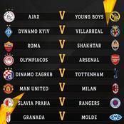 Europa Round 16 Draws