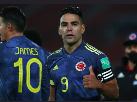 Radamel Falcao's stoppage-time goal earned Colombia a draw against Chile