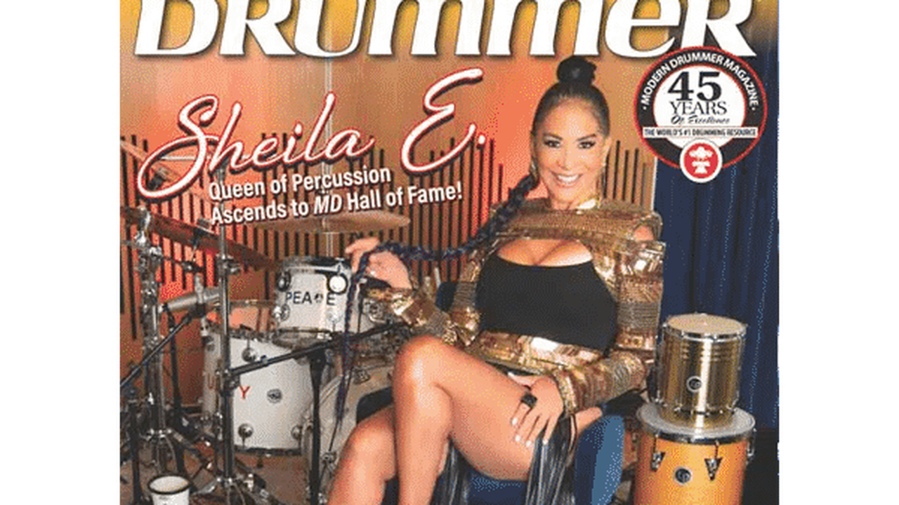 SHEILA E. IS CROWNED FIRST FEMALE WINNER OF THE MODERN DRUMMER READERS POLL HALL OF FAME