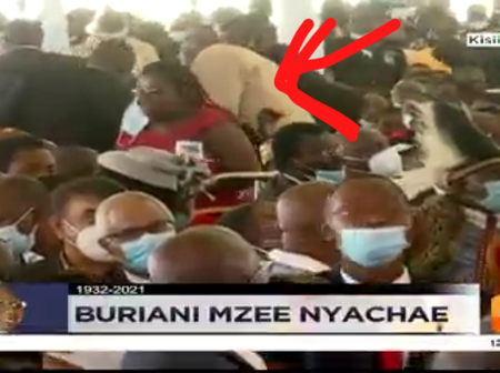 Drama as Security Moves Swiftly and Eject a Lady who was Making Noise as Matiangi Spoke