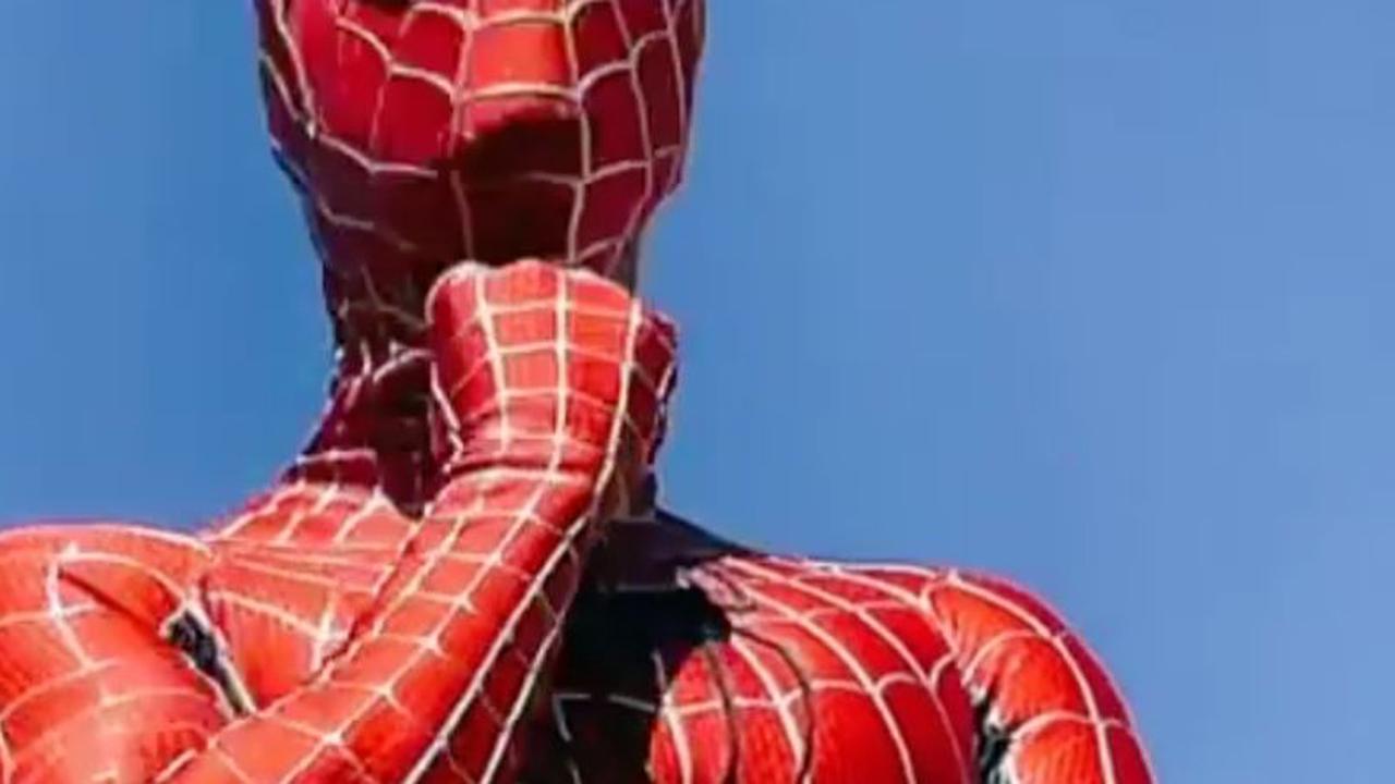 Transformé en Spider-Man, M Pokora fait rire ses fans (vidéo)